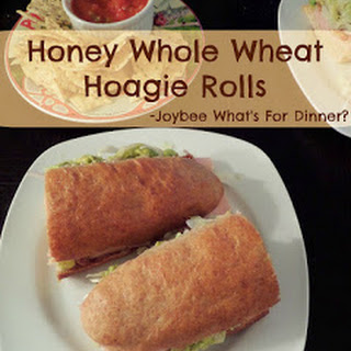 Honey Whole Wheat Hoagie Rolls