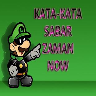 Kata-Kata Sabar Zaman Now - náhled