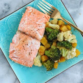 Sheet Pan Salmon & Vegetables.