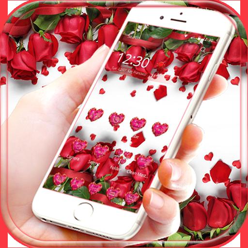 وردة حمراء موضوع خلفية حية التطبيقات على Google Play