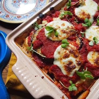 Quinoa Crusted Eggplant and Zucchini with Mozzarella (plus a bonus dessert recipe!)
