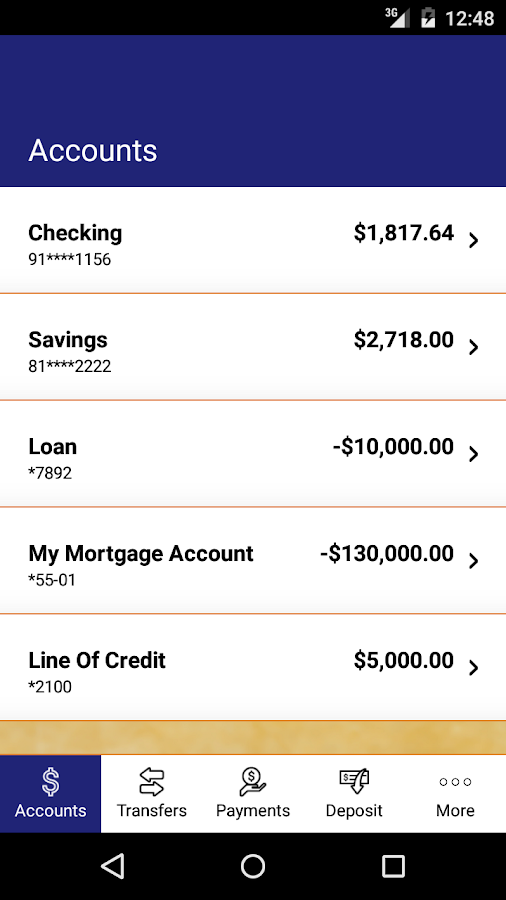 Hughes FCU Mobile Banking- screenshot