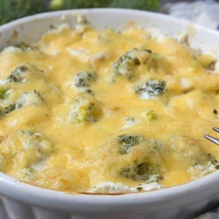 Easy Keto Chicken Broccoli Casserole.