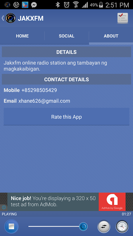 JAKXFM- screenshot