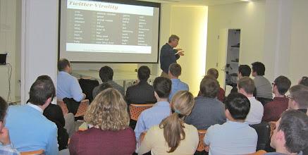 Photo: HubSpot CEO Halligan teaches BC about Inbound Marketing