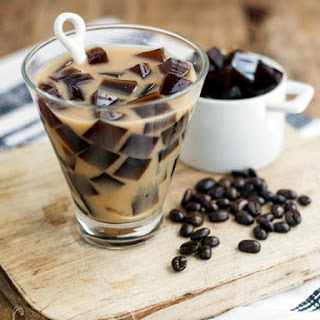 Coffee Jelly Almond Milk Tea.