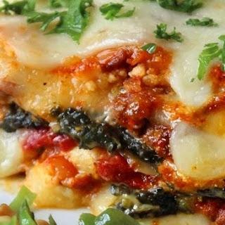 Spinach Alfredo Crock Pot Lasagna.