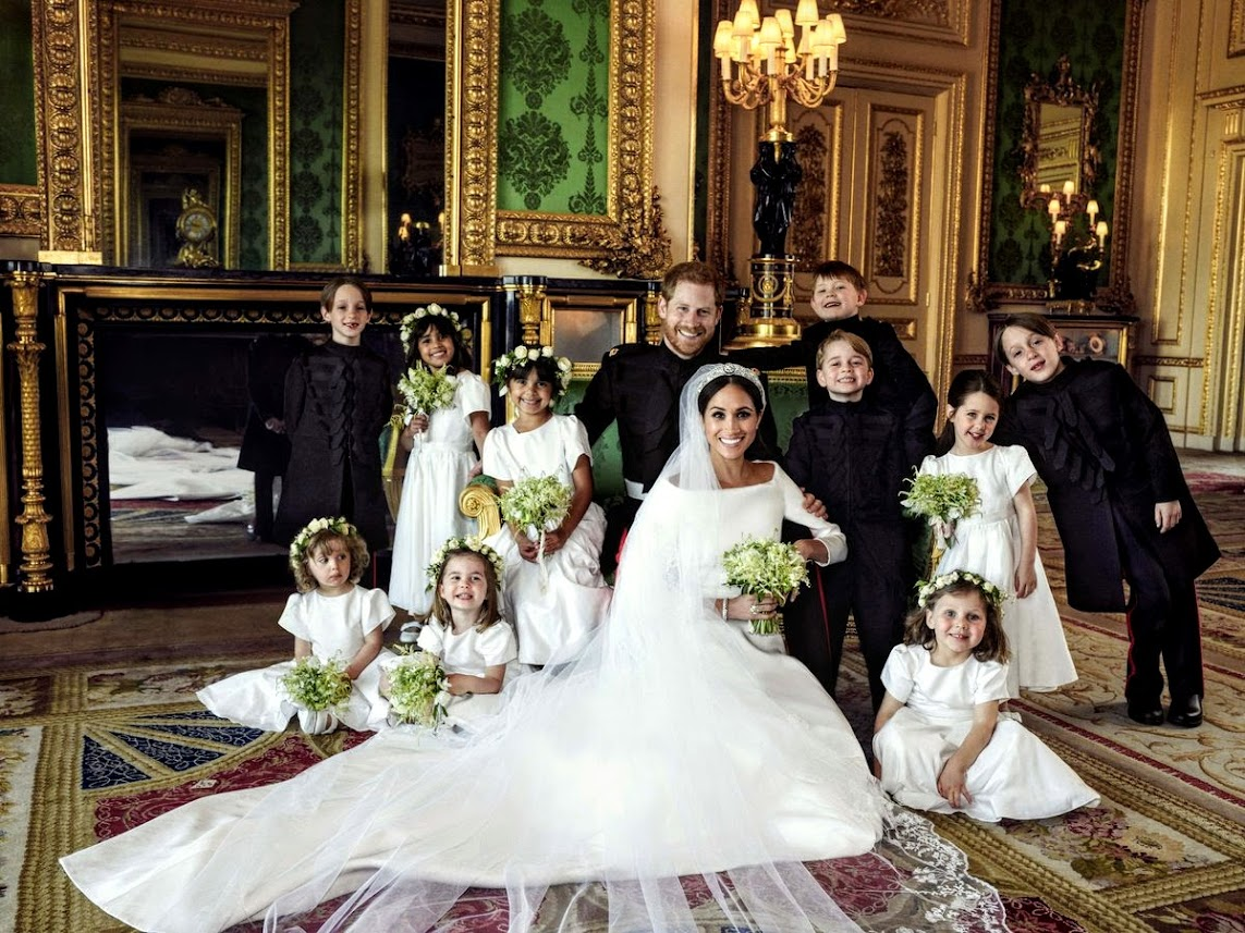 Prince Harry's wedding party children