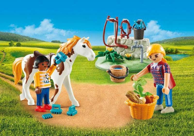Contenido real de Playmobil® 9100 Maletín Grande de Caballos