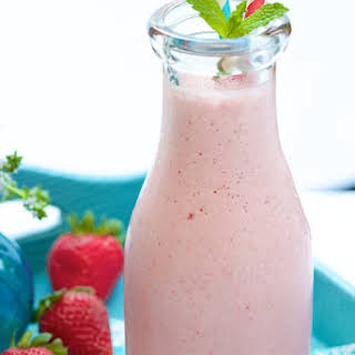 Strawberry Protein Smoothie.