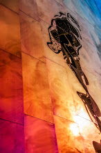 Photo: Needle Reflection  The Space Needle reflected in EMP Museum in Seattle.  #seattle #spaceneedle