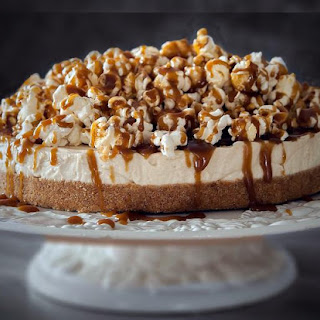 This Salted Caramel Popcorn Cheesecake Comes with a Serious Warning
