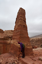 Photo: These obelisks are made by carving away the surrounding rock
