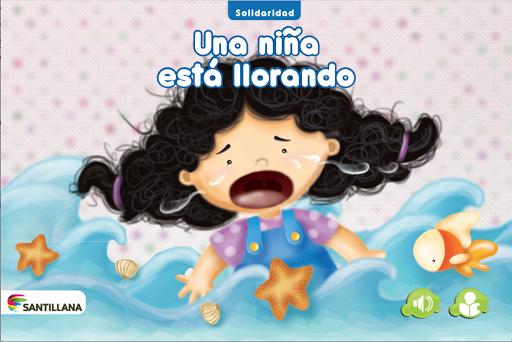 Una niña está llorando