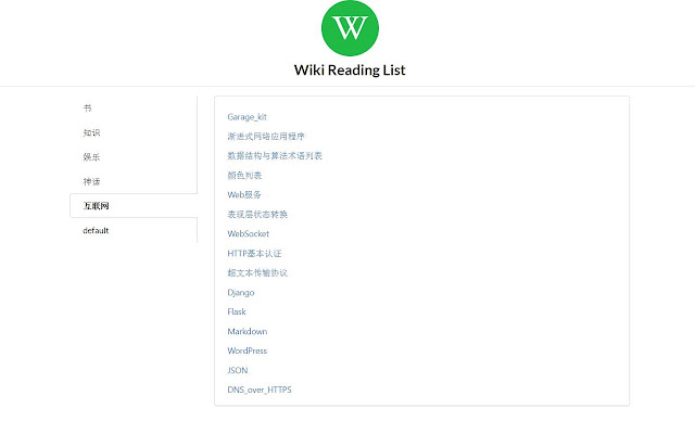 wikiext-reading-list