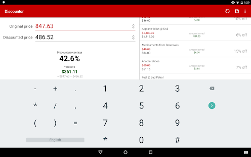 Discountor – sales calculator - screenshot thumbnail