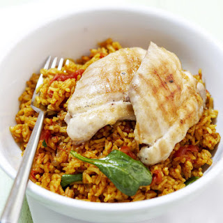 Spiced Spinach Pilaf with Chicken