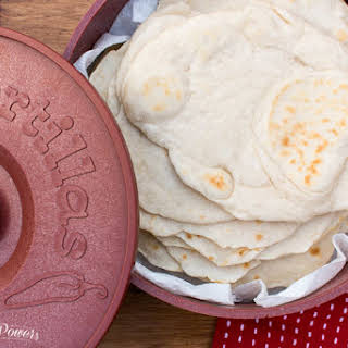 Traditional Homemade Flour Tortillas.