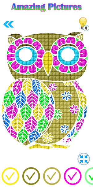 Happy Cross Stitch Color By Number-Needle Art Free