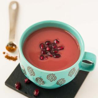 Warm Cinnamon Spiced Pomegranate Juice.