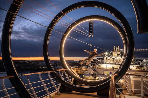 msc-seaside-zipline.jpg -  MSC Seaside offers onboard ziplining for guests looking for an adrenaline jolt.