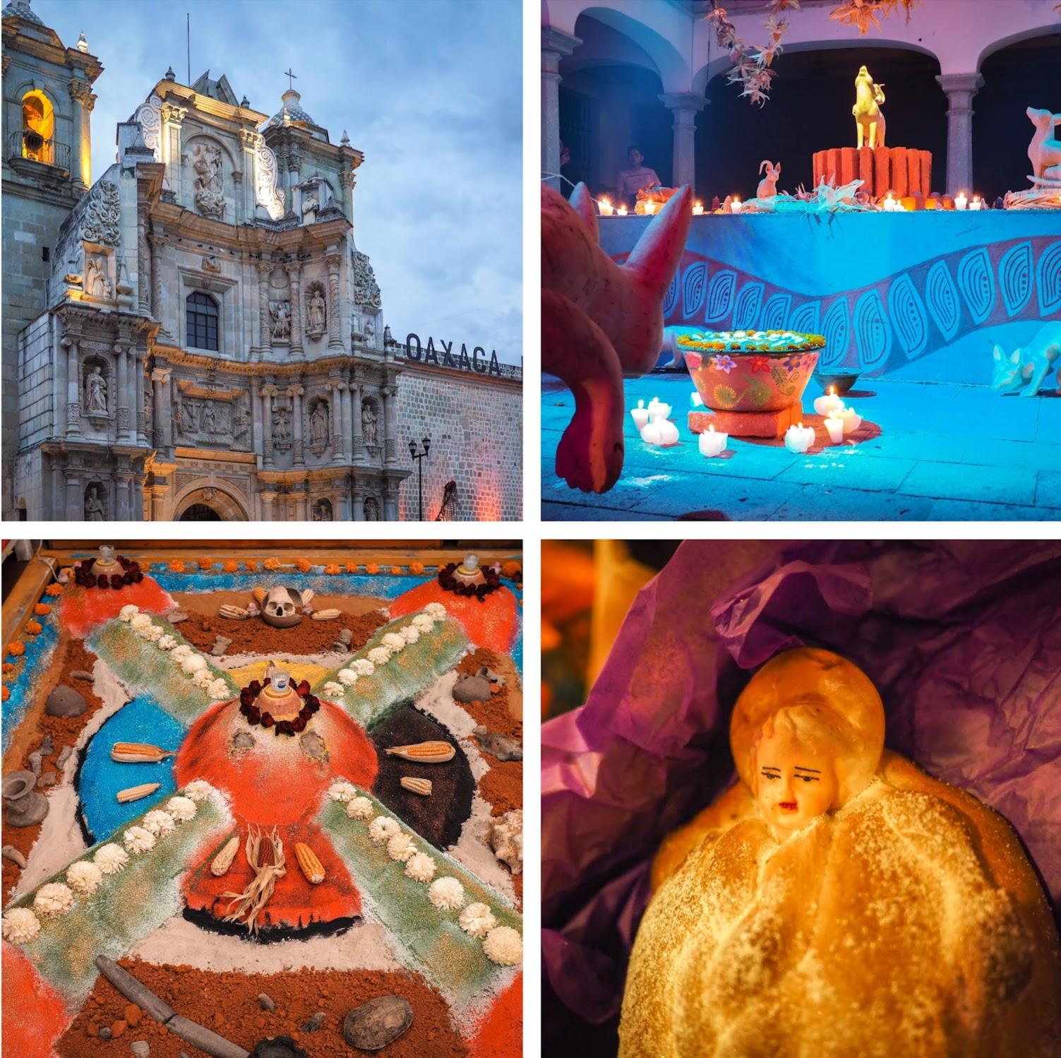 Day of the Dead celebration in Oaxaca is a colorful, joyful festivity.