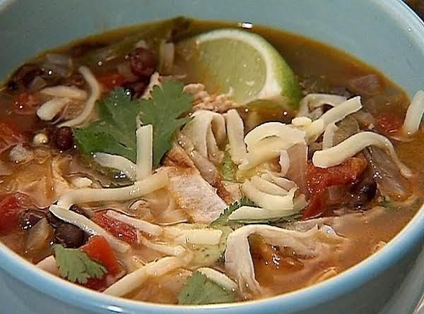Texas Chicken Tortilla Soup Recipe