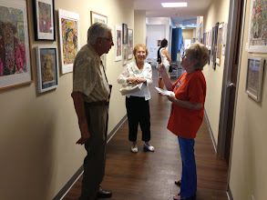 Photo: Artists Les and Sydelle Sher with Shaney McManus. Exhibition at the Weissman Delray Community Center June 21, 2013