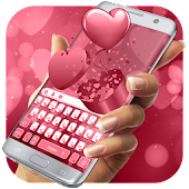 Red Love Rose Valentine Day Keyboard