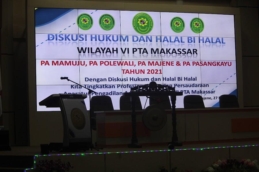 Wilayah VI PTA Makassar Gelar Diskusi Hukum Serta Halal Bi Halal | (14/6)
