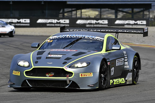 Charl Arangies (Stradale Aston Martin Vantage) took both of Saturday's G&H Transport Extreme Supercar races, setting a new overall lap record at Zwartkops in the process. Picture: DAVID LEDBITTER
