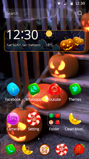 Halloween theme candy icon screenshot