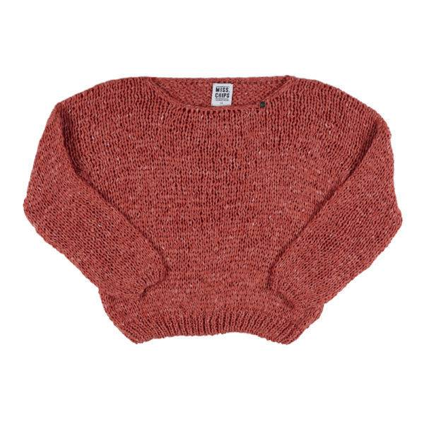 Pull Cord Knit Cropped Pull Spice