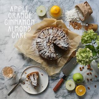 Apple Orange Cinnamon Almond Cake