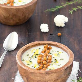Simple Creamy Cauliflower Soup.