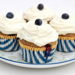 Healthy Whole Wheat Blueberry Breakfast Cupcakes.