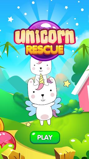 Pet Unicorn Rescue Bubble Shooter  captures d'écran 1