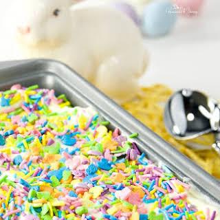 Easy Easter Lemon No Churn Ice Cream.