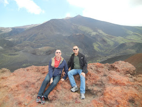 Photo: Atop one of the craters, Mt. Etna.