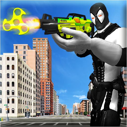 Fidget Spinner Shooter - Toy Gun Gangsters Battle