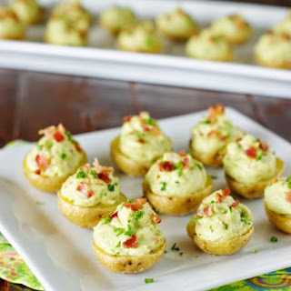 Creamy Bacon Guacamole Potato Bites