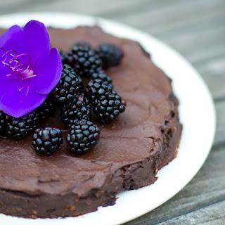 Chocolate & Blackberry Fudge Cake.