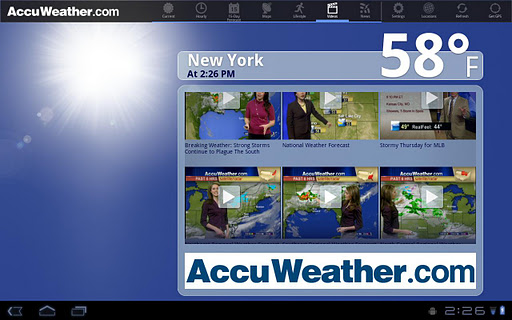 AccuWeather for Sony Tablet S screenshot 5