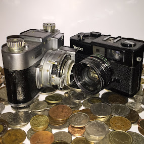cameras vs coins by Claudio de Freitas Photography - Artistic Objects Other Objects (  )