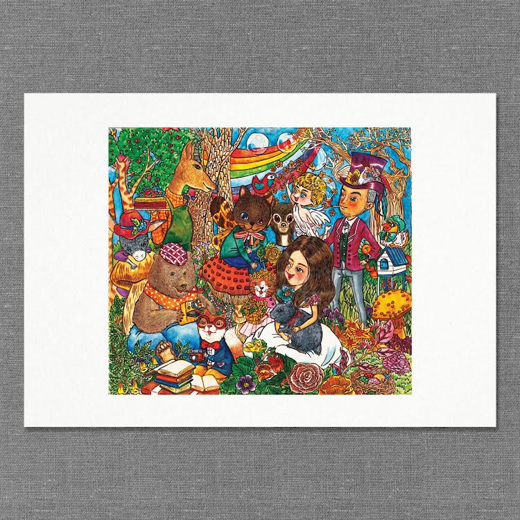 A2 Paper Print【Tea Party】 by Jeovine