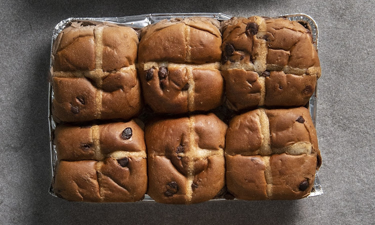 SPAR Chocolate Flavoured Hot Cross Buns.