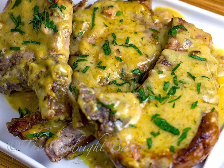 Slow Cooker Pork Chops with Golden Ranch Gravy Recipe