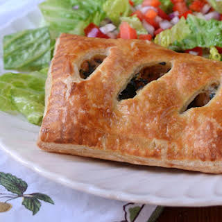 Sausage and Kale Puff Pastry Pockets with Parmesan and Mozzarella.