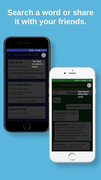 English Vocabulary Builder app - GRE vocabulary – (Android