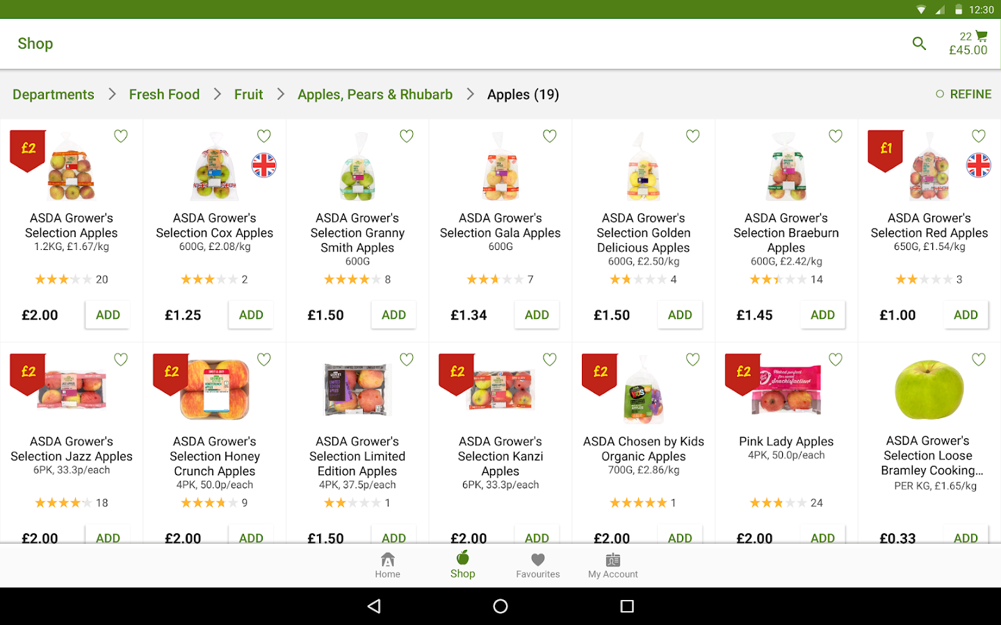 ASDA- screenshot